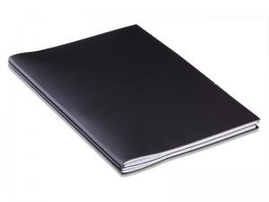 A4+ Außendienstmappe ModeSkin schwarz mit 2 x Notizen + Doppeltasche + Schnellhefter