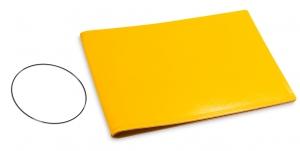 A5+ Quer Hülle 1er Leder glatt gelb inkl. ElastiXs