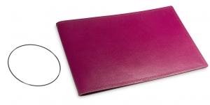 A5+ Quer Hülle 1er Leder glatt violett inkl. ElastiXs