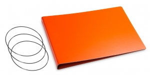 A5+ Quer Hülle 3er Lefa orange inkl. ElastiXs