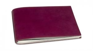 A5+ Quer LeatherSkin 2er Hülle Glatt violett