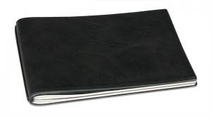 A5+ Quer Hülle 1er Leder natur schwarz inkl. ElastiXs