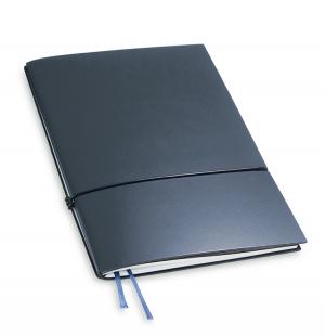 A5 1er Notizbuch Lefa dunkelblau, Notiz Blanko