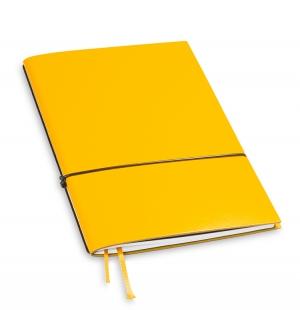 A5 1er Notizbuch Lefa gelb, Notiz Blanko