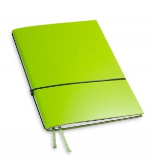 A5 1er Notizbuch Lefa grün, Notiz Blanko