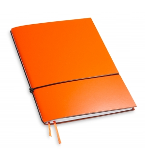 A5 1er Notizbuch Lefa orange, Notiz Blanko