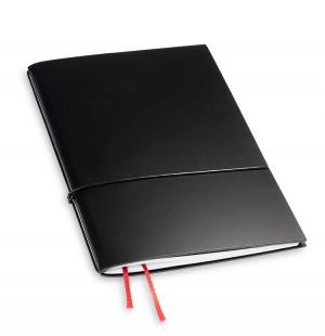 A5 1er Notizbuch Lefa schwarz, Notiz Blanko