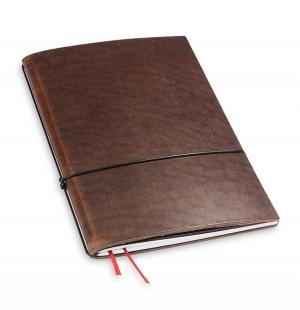 A5 1er Notizbuch Leder natur marone, Notizenmix