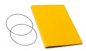A5 Hülle 1er Leder glatt gelb inkl. ElastiXs