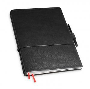 A5 2er Notizbuch Leder natur schwarz in der BOX