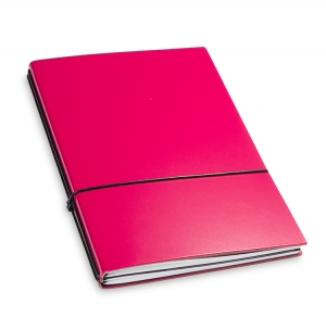 A5 2er Notizbuch Lefa magenta, Notizenmix