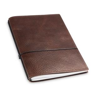 A5 2er Notizbuch Leder natur kastanie, Notizenmix