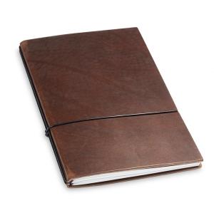 A5 2er Notizbuch Leder natur marone, Notizenmix