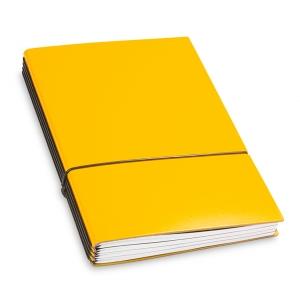 A5 4er Notizbuch Lefa gelb, Notizenmix