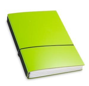 A5 4er Notizbuch Lefa grün, Notizenmix