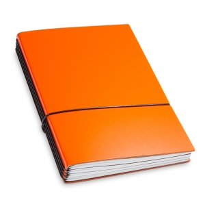 A5 4er Notizbuch Lefa orange, Notizenmix