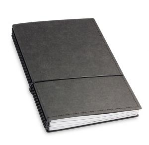 A5 4er Notizbuch Texon schwarz, Notizenmix