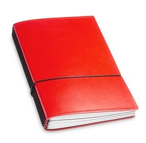 A5 4er Leder glatt rot mit Kalender 2020 und 2 x Notizen