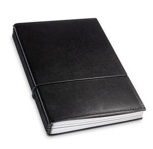 A5 4er Leder glatt schwarz mit Kalender 2020 und 2 x Notizen