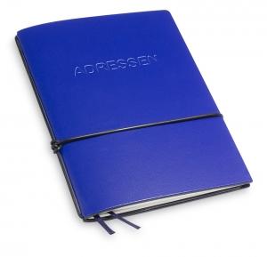 A6 1er Lefa blau mit 1 x Adressheft