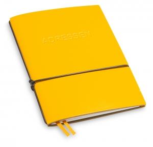 A6 1er Lefa gelb mit 1 x Adressheft