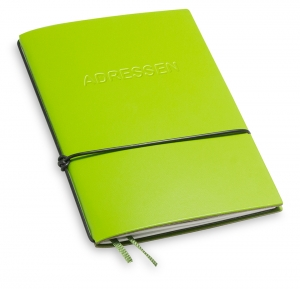 A6 1er Lefa grün mit 1 x Adressheft