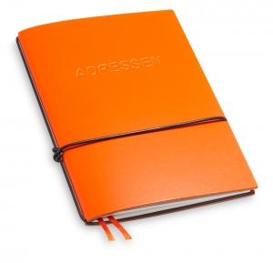 A6 1er Lefa orange mit 1 x Adressheft