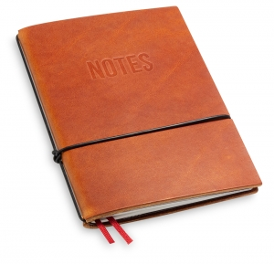 """NOTES"" A6 1er Leder natur brandy, 1 Einlage"