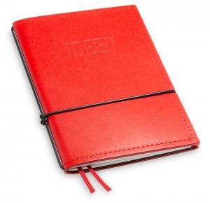 """""""IDEEN"""" A6 1er Leder glatt rot, 1 Einlage"""
