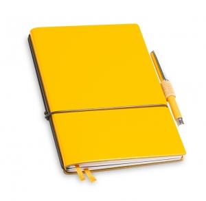 A6 2er Notizbuch Lefa gelb in der BOX