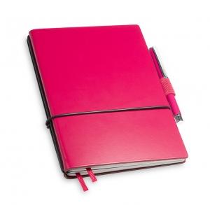 A6 2er Notizbuch Lefa magenta in der BOX