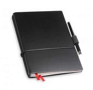 A6 2er Notizbuch Lefa schwarz in der BOX