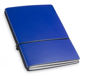 A6 2er Lefa blau mit Notizenmix und Doppeltasche
