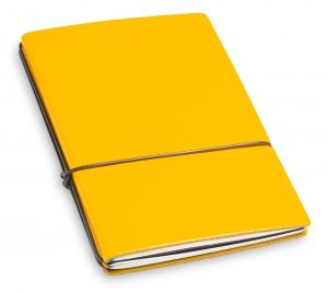 A6 2er Lefa gelb mit Notizenmix und Doppeltasche