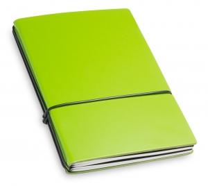 A6 2er Lefa grün mit Notizenmix und Doppeltasche
