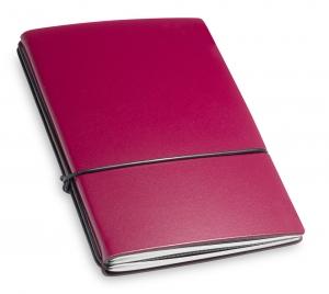 A6 2er Lefa violett mit Notizenmix und Doppeltasche