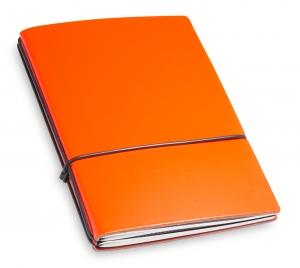 A6 2er Lefa orange mit Notizenmix und Doppeltasche