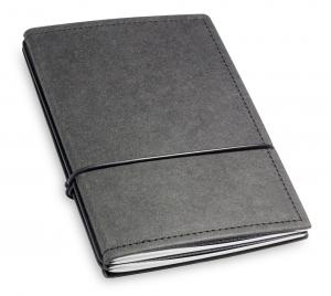 A6 2er Notizbuch Texon schwarz mit Notizenmix und Doppeltasche