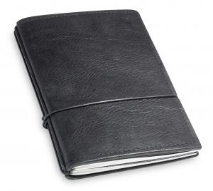 A6 2er Leder natur schwarz mit Notizenmix und Doppeltasche