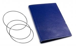 A6 Hülle 2er Leder glatt blau inkl. ElastiXs