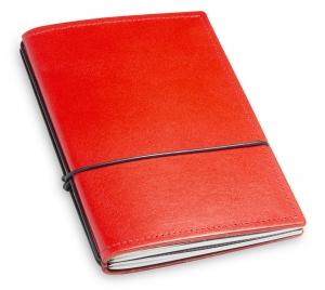 A6 2er Leder glatt rot mit Notizenmix und Doppeltasche