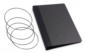 A6 X17 Black (3 carnets)