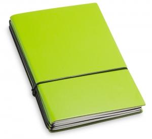 A6 3er Lefa grün mit Notizenmix