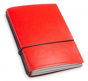 A6 3er Leder glatt rot mit Notizenmix
