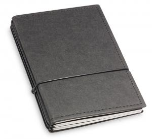 A6 3er Notizbuch Texon schwarz mit Notizenmix