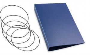A6 Hülle 4er HardSkin dunkelblau inkl. ElastiXs