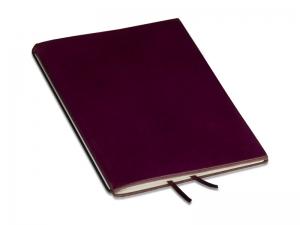 A6 1er Leder glatt violett mit Notizenmix