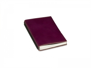 A6 Hülle Leder glatt - für 2 Einlagen, violett