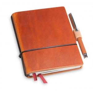 A7 2er Notizbuch Leder brandy  in der BOX