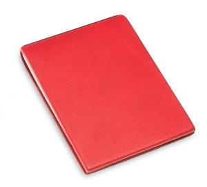 X-Steno Leder natur rot mit 1 Einlage
